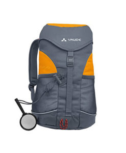 Vaude Kinderrucksack Puck in grau orange - Frontansicht 2